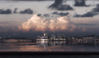 隈研吾新作/ 哥本哈根的水上运动中心和海港浴场。
