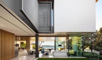 块面积合,以材质和线条衬托高级感的海湾住宅