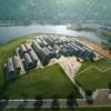 扎哈建筑事务所公布庐山小学设计方案——用机械臂打造连绵抛物线的穹顶建筑群