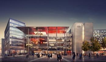 福斯特事务所 / 由内而外泛出冷艳的金属光泽:BBC威尔士分部设计的办公大楼