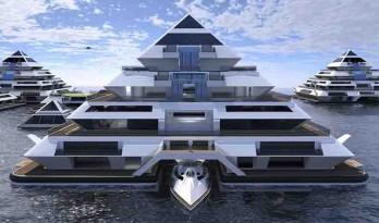 把城市浮在海上!浮动的模块化城市方案