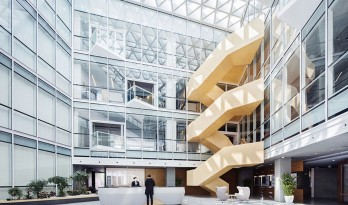 充满阳光与生命力的办公空间,上海宝业中心室内设计