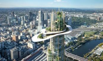 """悬浮的云层,空中的绿洲—MAD墨尔本北区超高层""""Urban Tree"""" 国际竞赛方案"""