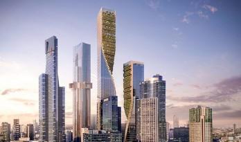 扭转的绿脊,南岸瞭望者—UNstudio墨尔本摩天楼竞赛方案