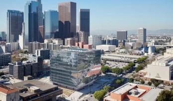 SOM事务所在洛杉矶盖了个悬浮的玻璃盒子 — 洛杉矶联邦法院