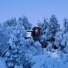 冰天雪地中的瞭望塔:拉达喀雪山小筑