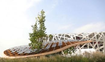 """MAD新作 / 北京鸟巢旁,一朵飘在半空中的""""云"""" —— 庭园家"""