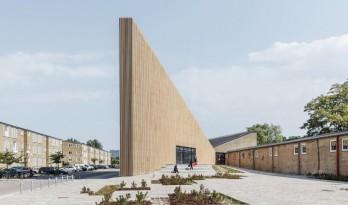 """仿佛没有厚度的""""纸片建筑"""":丹麦楔形图书馆"""