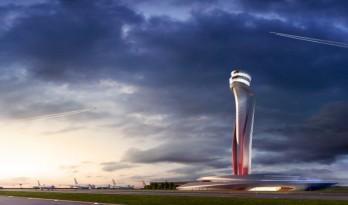 宛如郁金香的机场塔楼,伊斯坦布尔的城市象征