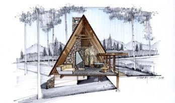 如何用马克笔表现建筑设计制图?