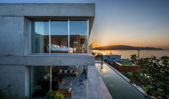 悬空于大海之上,纵享天水合一:越南石头住宅