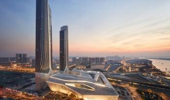 扎哈为南京打造的地标双塔 — 南京国际青年文化中心
