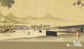 中等尺度景观建筑古风图