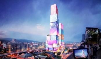 全身上下都是屏幕的台北双子塔 / MVRDV