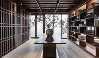 竹窗闻水月浮动:苏州世茂铜雀台售楼处|IADC涞澳设计