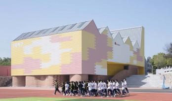 岳阳县第三中学风雨操场兼报告厅 / SUP素朴建筑工作室