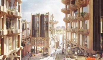 "snøhetta联合heatherwick事务所在多伦多打造全木制的""码头之滨""社区"