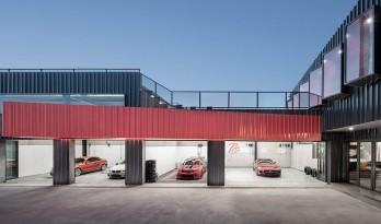 一场汽车爱好者的社交实验,The Pit House汽车俱乐部 / 上建下筑工作室