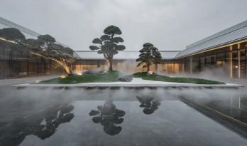 青松翠柏,镜水院落:重庆万科翡翠公园 / 上海日清建筑设计