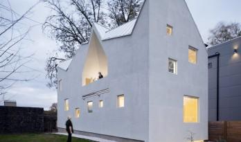 屋顶多维切割,复归经典的现代纯白住宅 / MALL