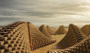 NUDES 公布马拉维学校设计,使用草砖建造阶梯状建筑