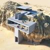 """""""岩石中的房子"""":混凝土板的有机几何切割"""