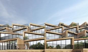 NL Architects + STUDYO 为法兰克福设计梯田式经济适用房