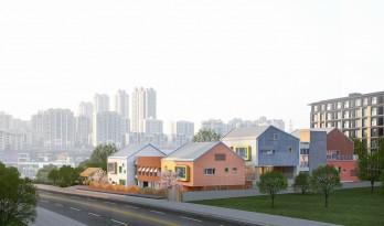 """五彩斑斓的""""村落""""木屋——重庆约克北郡幼儿园 / IDO元象建筑"""