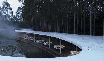 云雾氤氲,丝带飘逸:云镜 · 花园火锅餐厅 / 慕达建筑
