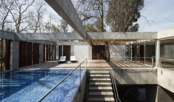 与大树枝桠握手,混凝土打造的朴素之家 / Estudio Botteri-Connell