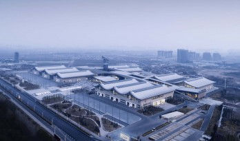 石家庄国际会展中心,世界最大悬索结构展厅 / 清华大学建筑设计研究院