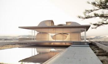 """伊朗经典建筑元素""""四拱顶""""的现代重组"""