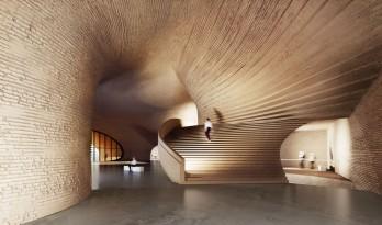 Next Office 设计萨德拉艺术家论坛,回应古代波斯砖石建造技术