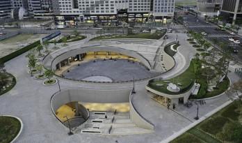 流转曲线,宛如衣袂飘带——麻谷中心广场 / Wooridongin Architects