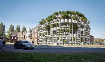 "MVRDV 新作""绿色之墅"",一个覆满植物的街角住宅"