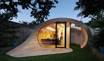 飘逸自然,流于庭院:棚+办公室 / Platform 5 Architects