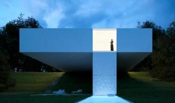"""""""十字""""悬挑的精神性:西班牙贝纳阿维斯之家 / Fran Silvestre建筑事务所"""