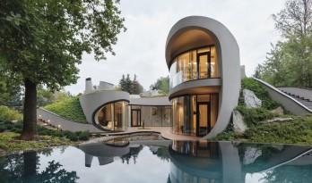 勾勒回旋于草木间的雕塑:风景中的房子 / Niko arcjitect