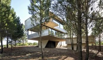 光影婆娑,如木石般朴实的林间住宅 / Luciano Kruk