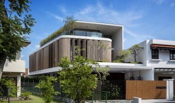 """热带中的现代之家:""""竹帘""""住宅"""