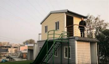 """自学CAD,为""""柜族""""而建造,民间大叔发明可折叠的房子"""