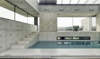 水与混凝土协奏出的生命之歌:22º 别墅 / Dreessen Willemse Architecten