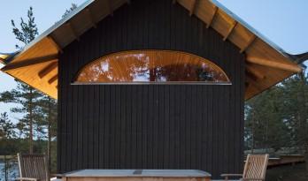 融入海岸,眺望日落:芬兰桑拿旅馆 / Mer Architects