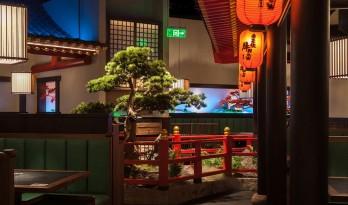 红叶飘落竹廊外:牛NEW寿喜烧,上海/卧野空间设计事务所