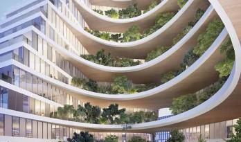 """绿植爬满""""山峰""""——阿尔巴尼亚Ekspozita大楼 / Mario Cucinella"""