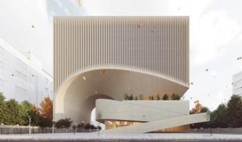曲线动感,不朽的雕塑:马什哈德建筑工程组织总部 / Nextoffice