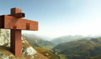 悬挑于瑞士阿尔卑斯山崖上的坐标系住宅 / Axis Mundi