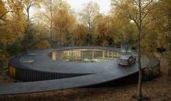 """盘旋于森林之中的""""鸟巢"""":长岛木屋2.0 / Marchi Architects"""