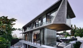 透着独特构造的飞动感:新加坡斯达克住宅 / Park + Associates