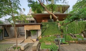 老旧墙檐,爬满了绿——Guha创意园区 / RAW Architecture